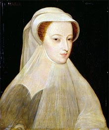 Mary Queen of Scots in White Mourning, 1561 by Francois Clouet | Painting Reproduction