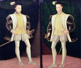 Francis II and Charles IX of France, undated von Francois Clouet | Gemälde-Reproduktion