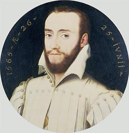 Portrait of a Bearded Gentleman, Aged 26, 1565 von Francois Clouet | Gemälde-Reproduktion