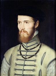 Portrait of a Man, possibly Don John of Austria, c.1570 von Francois Clouet | Gemälde-Reproduktion