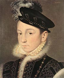 Portrait of King Charles IX of France, 1561 von Francois Clouet | Gemälde-Reproduktion