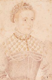 Portrait Presumed to be Mary Queen of Scots | Francois Clouet | Gemälde Reproduktion
