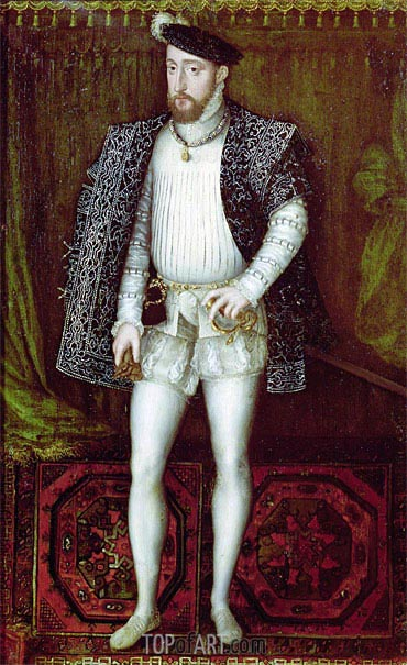 Portrait of Henri II King of France, 1547 | Francois Clouet | Painting Reproduction