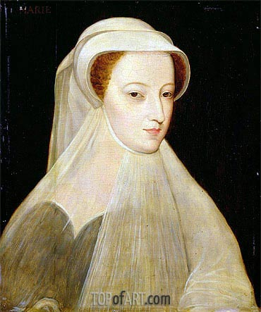 Mary Queen of Scots in White Mourning, 1561 | Francois Clouet | Painting Reproduction