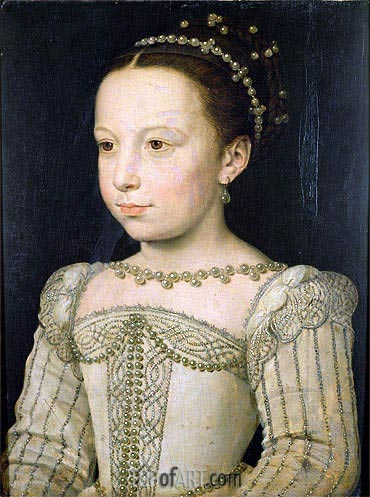 Marguerite de Valois, c.1561 | Francois Clouet | Painting Reproduction