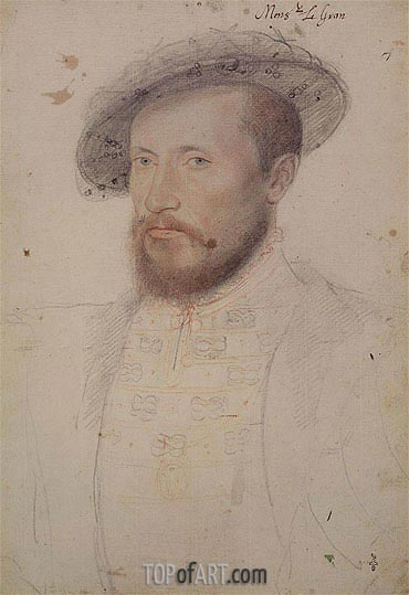 Portrait of Claude Gouffier Duke of Roannais, c.1543 | Francois Clouet | Gemälde Reproduktion