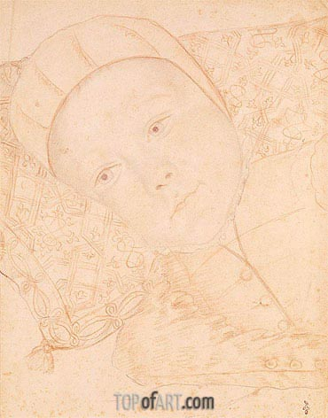 Child of Henri II and Catherine de Medici possibly Charles Maximilien Duke of Orleans, c.1550 | Francois Clouet | Gemälde Reproduktion