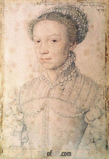 Elisabeth of France, 1559 | Francois Clouet | Gemälde Reproduktion