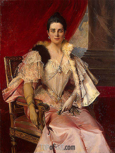 Portrait of Princess Zinaida Yusupova, 1894 | Francois Flameng | Painting Reproduction