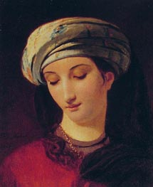 Portrait of a Woman with a Turban, 1826 by Francois Navez | Painting Reproduction