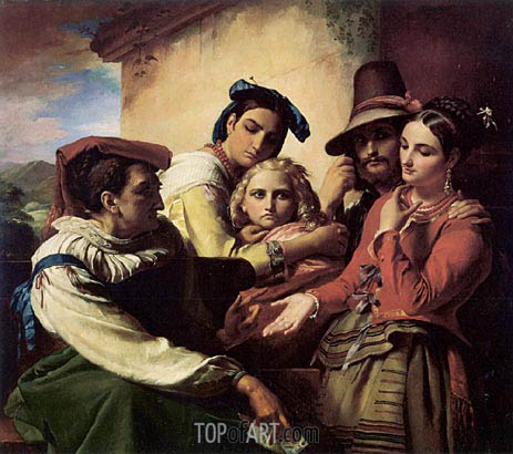 The Fortune Teller, 1849 | Francois Navez | Painting Reproduction