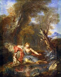 Narcissus | Francois Lemoyne | Painting Reproduction