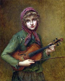 The Young Violin Player, Undated von Francois Martin-Kavel | Gemälde-Reproduktion