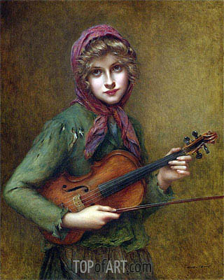 The Young Violin Player, Undated | Francois Martin-Kavel | Gemälde Reproduktion