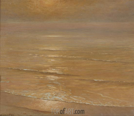 The Golden Hour, Laguna Beach, c.1923 | Frank Cuprien | Painting Reproduction