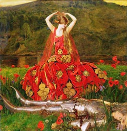 La Belle Dame Sans Merci, 1926 by Frank Cadogan Cowper | Painting Reproduction