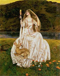 The Damsel of the Lake, Called Nimue the Enchantress, 1924 by Frank Cadogan Cowper | Painting Reproduction