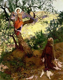St. Francis of Assisi and the Heavenly Melody | Frank Cadogan Cowper | Painting Reproduction