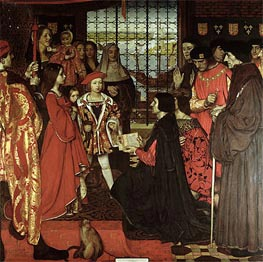 Erasmus and Sir Thomas More Visit the Children of Henry VII at Greenwich in 1499 | Frank Cadogan Cowper | Painting Reproduction