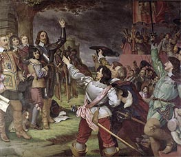 Charles I Erecting His Standard at Nottingham on 22nd August 1642 | Frank Cadogan Cowper | Gemälde Reproduktion