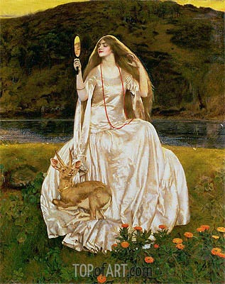 The Damsel of the Lake, Called Nimue the Enchantress, 1924 | Frank Cadogan Cowper | Painting Reproduction