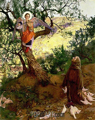 St. Francis of Assisi and the Heavenly Melody, 1904 | Frank Cadogan Cowper | Painting Reproduction