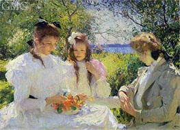 Portrait of my Daughters, 1907 by Frank Weston Benson | Painting Reproduction