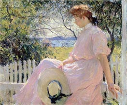 Eleanor, 1907 by Frank Weston Benson | Painting Reproduction