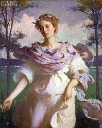 Summer, 1890 by Frank Weston Benson | Painting Reproduction