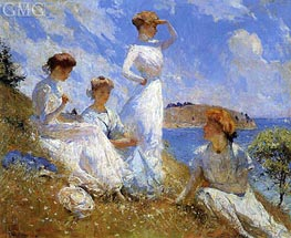 Summer, 1909 by Frank Weston Benson | Painting Reproduction