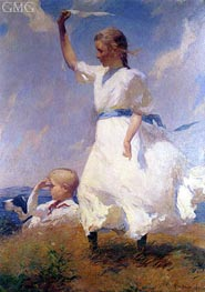 The Hilltop, Undated by Frank Weston Benson | Painting Reproduction