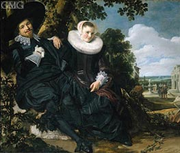 Married Couple in a Garden, c.1622 by Frans Hals | Painting Reproduction