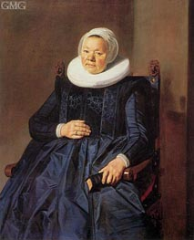 Portrait of a Woman, 1635 by Frans Hals | Painting Reproduction