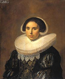 Portrait of a Woman (Sara Wolphaerts van Diemen) | Frans Hals | Painting Reproduction