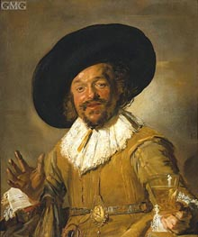 The Merry Drinker, c.1628/30 by Frans Hals | Painting Reproduction