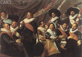 Banquet of the Officers of the St George Militia | Frans Hals | Gemälde Reproduktion