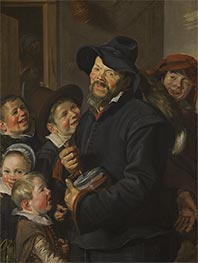 The Rommel-Pot Player, c.1618/22 by Frans Hals | Painting Reproduction