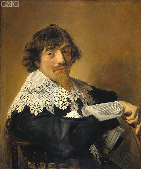 Portrait of a Man, Possibly Nicolaes Hasselaer, c.1630/35 | Frans Hals | Gemälde Reproduktion