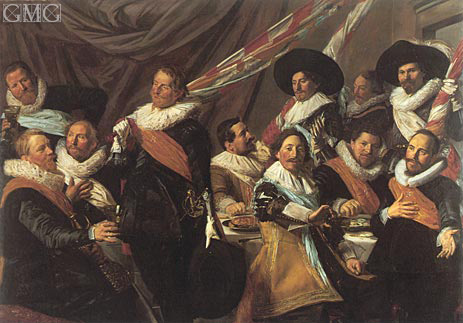 Banquet of the Officers of the St George Militia, 1627 | Frans Hals | Painting Reproduction