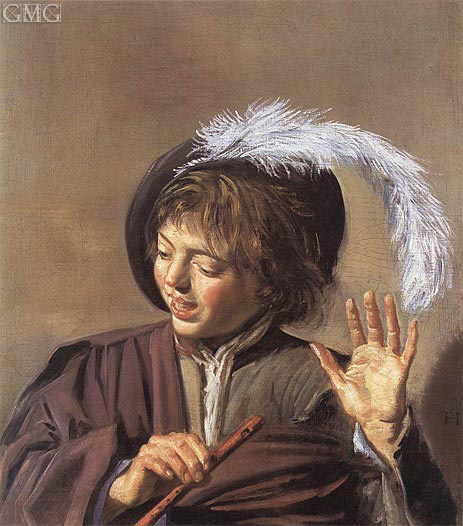 Singing Boy with a Flute, c.1623/25 | Frans Hals | Painting Reproduction