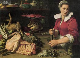 Cook with Food, c.1630/40 von Frans Snyders | Gemälde-Reproduktion
