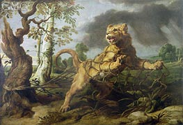The Lion and the Mouse | Frans Snyders | Gemälde Reproduktion
