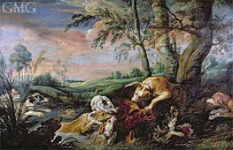 A Boar Hunt | Frans Snyders | Painting Reproduction