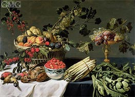 Still Life of Fruit in a Wicker Basket | Frans Snyders | Painting Reproduction