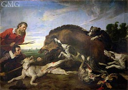 The Wild Boar Hunt, c.1640 von Frans Snyders | Gemälde-Reproduktion
