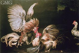 Fighting Cocks, Undated von Frans Snyders | Gemälde-Reproduktion