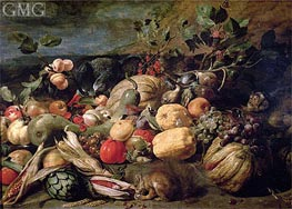 Still Life of Fruits and Vegetables, 1620 von Frans Snyders | Gemälde-Reproduktion
