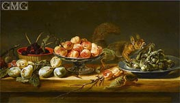 Still Life with Squirrel | Frans Snyders | Gemälde Reproduktion