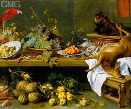 Still Life with Fruit, Vegetables and Dead Game, c.1635/37  von Frans Snyders | Gemälde-Reproduktion