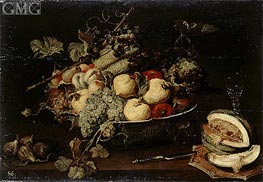Fruit in a Bowl and a Sliced Melon, c.1650 von Frans Snyders | Gemälde-Reproduktion